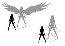 дьявол ангела Стоковые Изображения