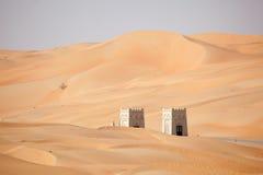 Дюны в пустыне Liwa, Абу-Даби Стоковое Изображение RF