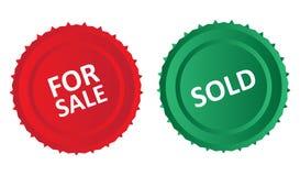 Для продажи и проданные значки Стоковое Изображение
