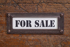 Для продажи - ярлык картотеки Стоковые Изображения RF