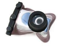 水下照相机的盒 免版税库存照片