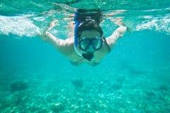 水下的加勒比海 图库摄影