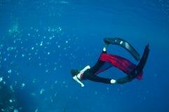 水下的过分放纵 图库摄影