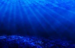 水下蓝色的场面 库存照片