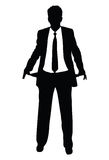 破产商人silhouet 免版税图库摄影