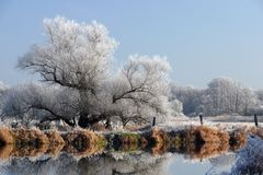 巴伐利亚冬天 免版税库存图片