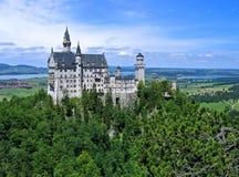 巴伐利亚城堡neuschwanstein 免版税库存图片