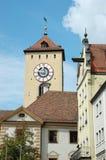 巴伐利亚德国大厅老雷根斯堡城镇 图库摄影