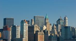 更低的曼哈顿Scycsrapers, 库存照片