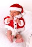 婴儿圣诞老人 免版税库存照片