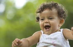 婴儿微笑 库存照片