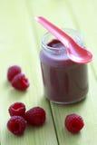 婴儿食品莓 库存图片