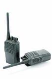 紧凑可移植的专业收音机二 库存照片
