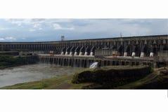 水力发电的itaipu工厂 图库摄影
