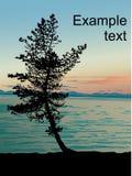 贝加尔湖湖日落 库存图片