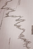 财务分析的数据 免版税图库摄影