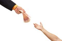 财务卢布俄国支持 免版税库存图片