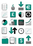 财务图标万维网 库存照片