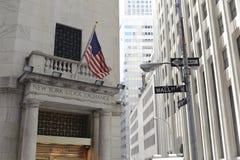 财务地区,纽约 免版税库存照片