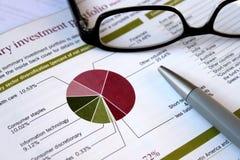 财务投资组合复核 免版税库存照片