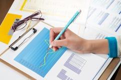 财务数据 免版税库存图片