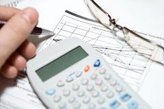 财务的分析 免版税图库摄影