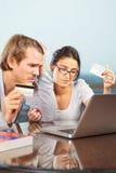 财务的夫妇有问题 免版税库存照片
