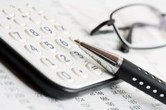 财务的平衡 免版税库存照片