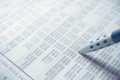 财务的绘制 免版税库存照片