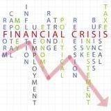 财务背景的危机 库存照片