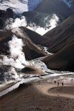 活动地热冰岛 免版税库存照片