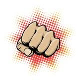 活动拳头 免版税库存照片