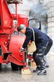 活动消防员 免版税图库摄影