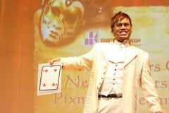 活动看板卡魔术师窍门 库存图片