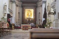 巴勒莫大教堂内部  免版税库存照片