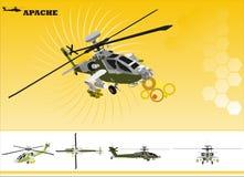 直升机向量 免版税库存照片