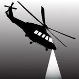 直升机监视 免版税库存图片
