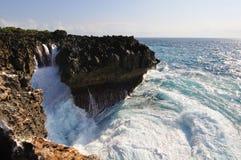 巴厘岛吹动dua努沙水 免版税库存图片