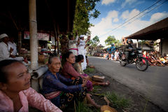 巴厘岛日沈默ubud 免版税图库摄影