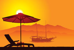 巴厘岛海滩 图库摄影
