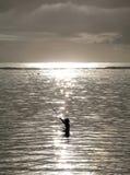 巴厘岛渔夫 库存照片