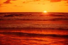 巴厘岛熔岩日落 免版税图库摄影