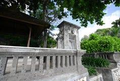 巴厘岛老入口房子 库存图片
