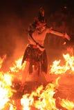 巴厘语传统舞蹈的火 免版税图库摄影