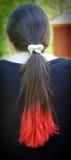 头发低劣的红色 免版税库存照片