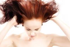 头发红色 免版税图库摄影