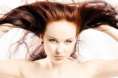 头发红色 库存照片