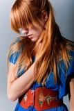 头发红色 图库摄影