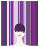 头发紫色 库存照片