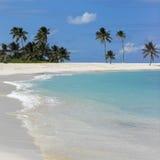 巴哈马海滩场面 免版税库存图片